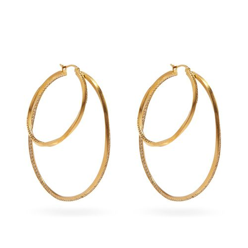 Manifold 14kt Gold-Vermeil & Topaz Hoop Earrings ($775)
