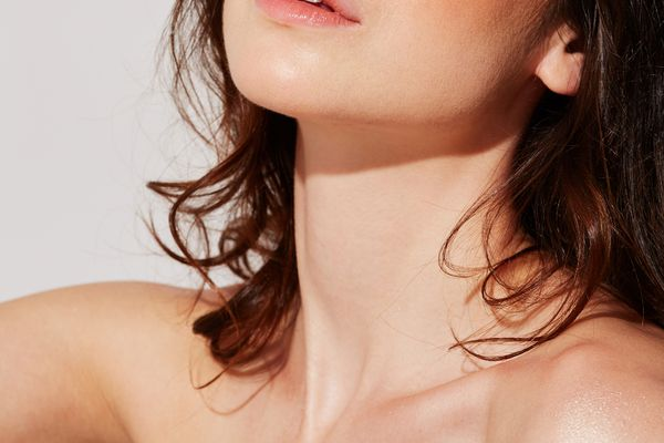 woman with smooth neck