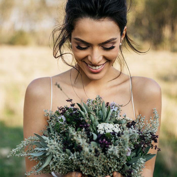 wedding makeup artist: bride with smokey eye