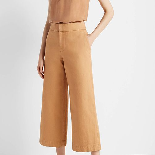 Wide-Leg Denim Trousers ($99)