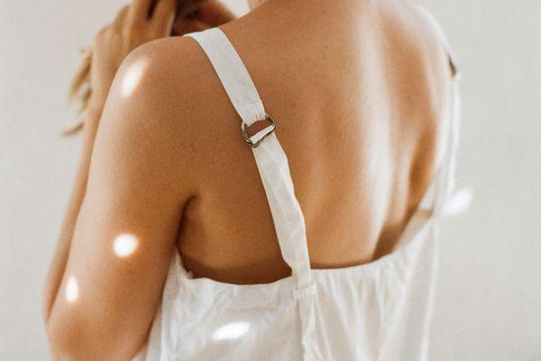 woman with tan skin