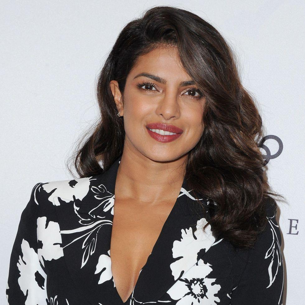 Priyanka Chopra mid-length hair with natural wave