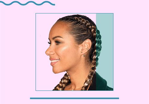 Leona Lewis in dutch braids