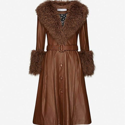 Foxy Shearling-Trimmed Leather Coat ($1643.26)