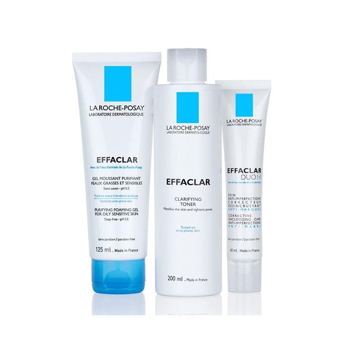 jaw acne: La Roche-Posay Effaclar 3-Step Anti-Blemish System
