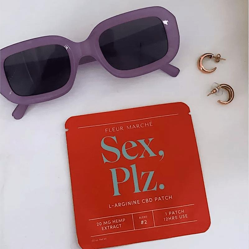 CBD Patch, sunglasses, earrings
