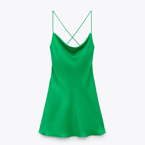 Zara Short Satin Effect Dress