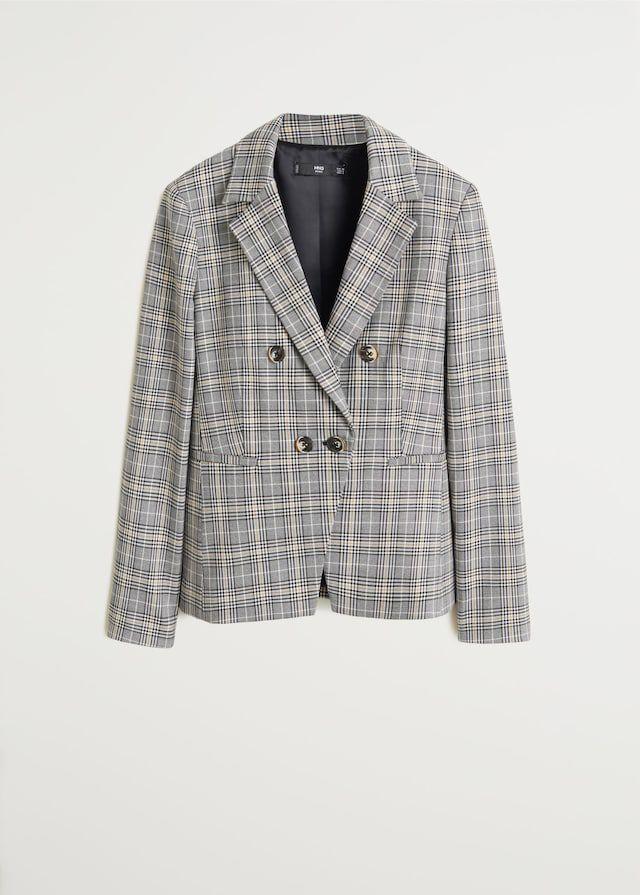 Check suit blazer