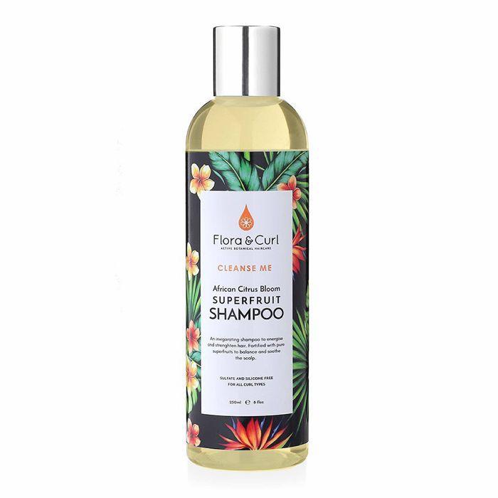 Paraben free shampoo: Flora & Curl African Citrus Superfruit Shampoo