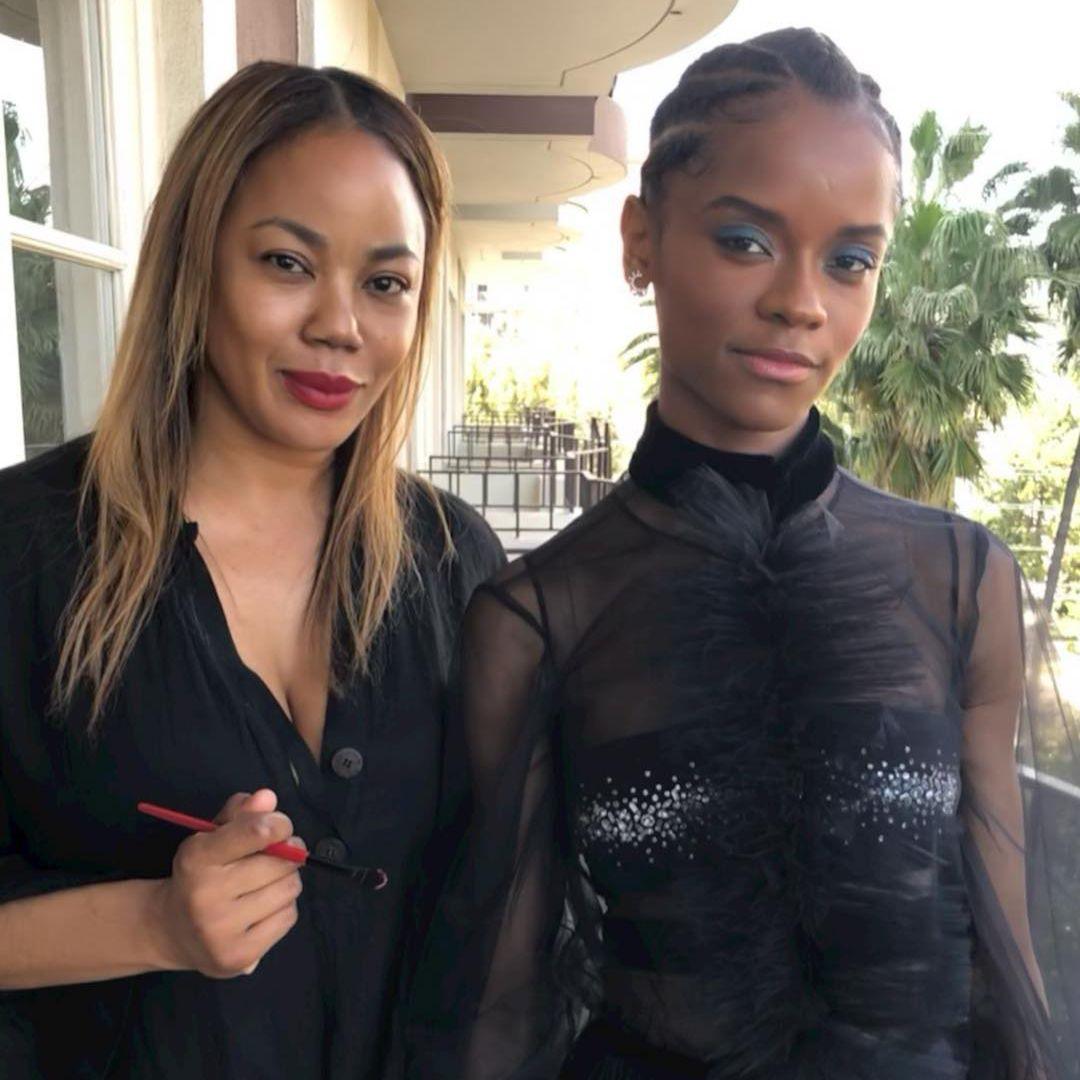 Tasha Reiko Brown with Letitia Wright