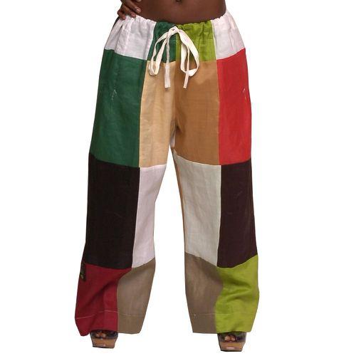 Moshood Linen Patchwork Pants