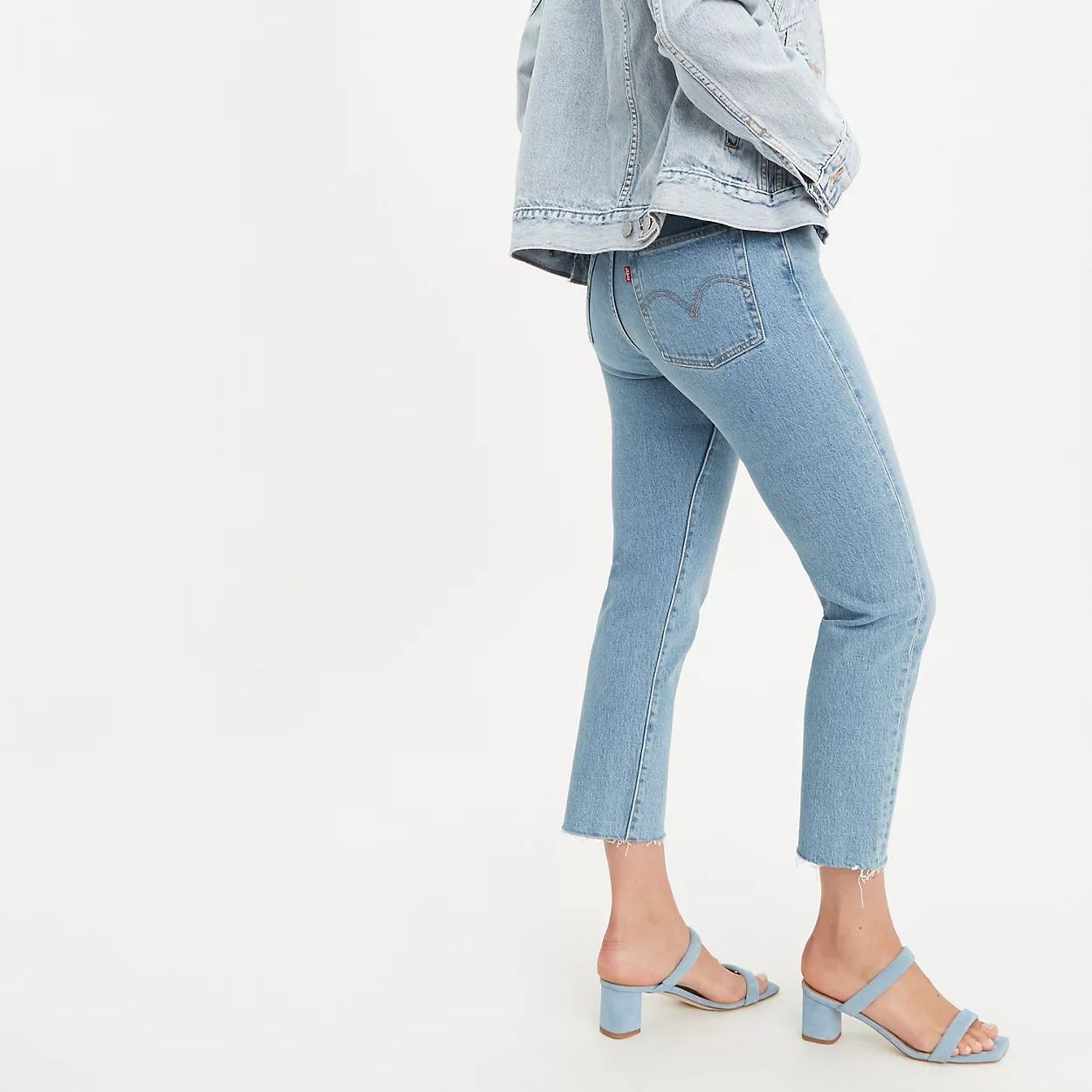 Levi's Straight Fit Wedgie Jeans, Frayed Hem