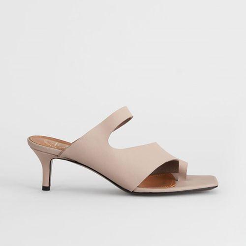 Pittuini Sand Cutout Heels ($380)