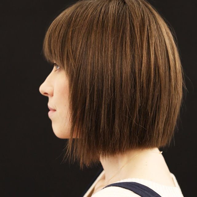 Profile of woman with soft undercut
