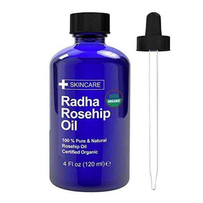 Radha Beauty USDA Certified Organic 100% Pure Rosehip Oil