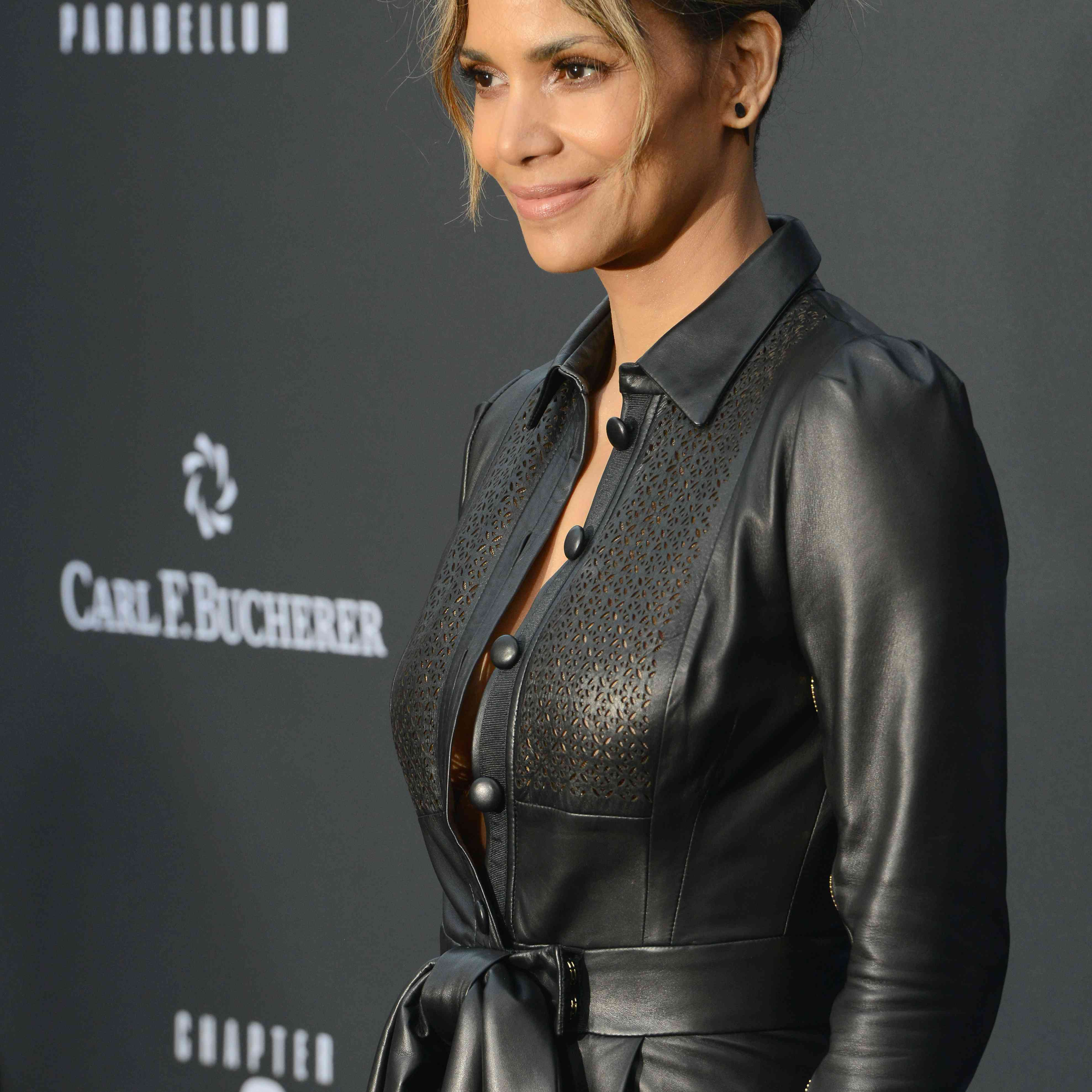 Halle Berry's messy updo
