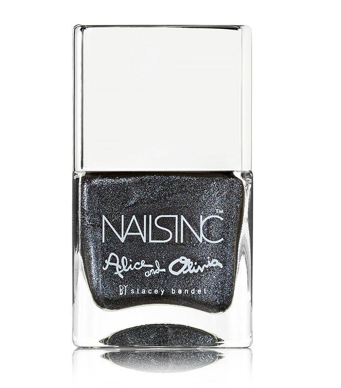 Best nail polish: Nails Inc Alice + Olivia Nail Polish in Black Diamond