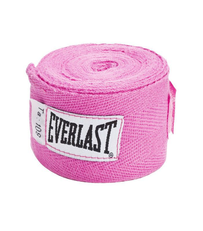 pink kickboxing hand wraps