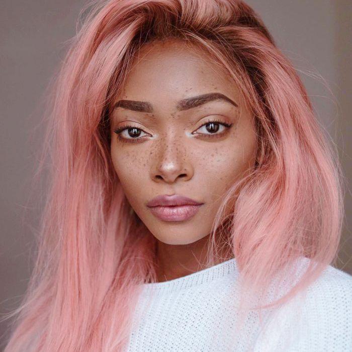 Pink champagne summer hair