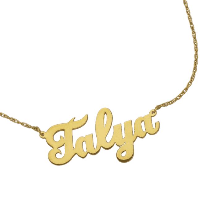 Accessories Jennifer Zeuner Serafina Cursive Nameplate Necklace