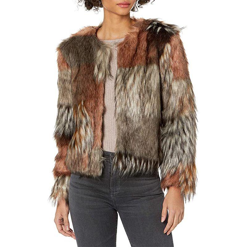 Patch My Drift Faux Fur Jacket