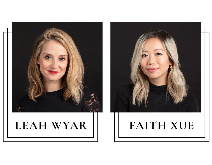 Leah Wyar and Faith Xue