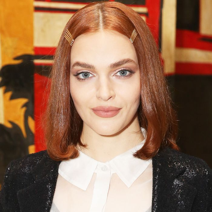 Madeline Brewer shoulder-length with decorative hair pins
