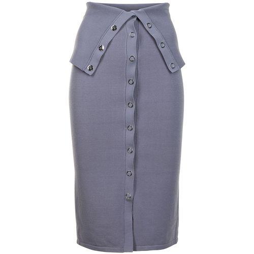 Dion Lee Hosiery Placked Midi Skirt