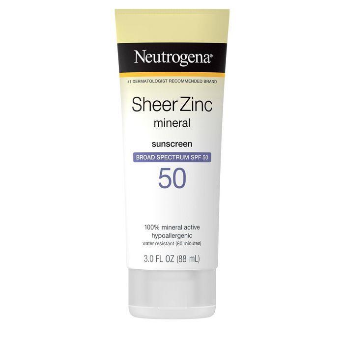 Neutrogena Sheer Zinc Mineral Sunscreen Lotion