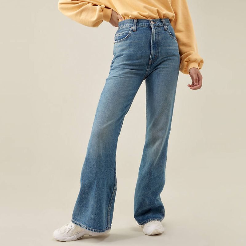 '70s High Rise Flare Jeans