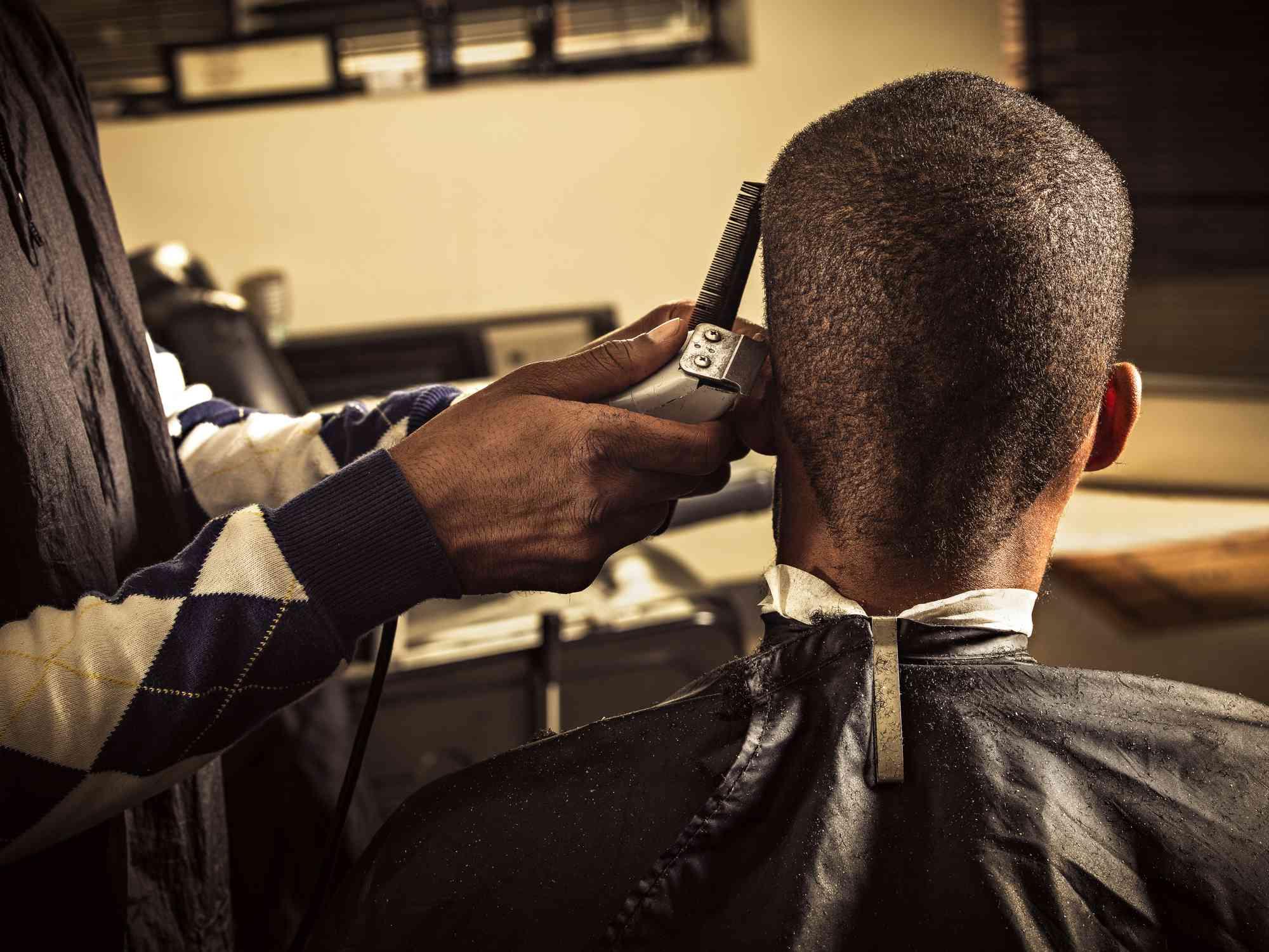 black man barber shop