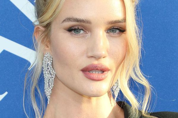 Rosie Alice Huntington-Whiteley Middle Part And Updo