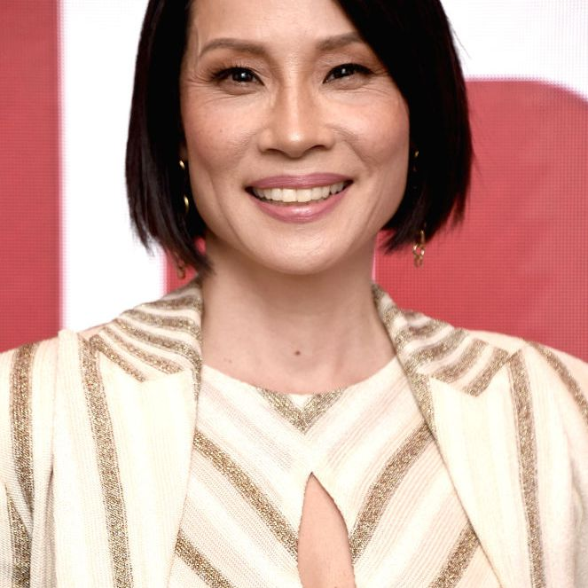 Lucy Liu classic chin-length bob with side part