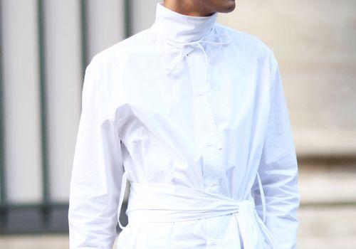 a man at fashion week