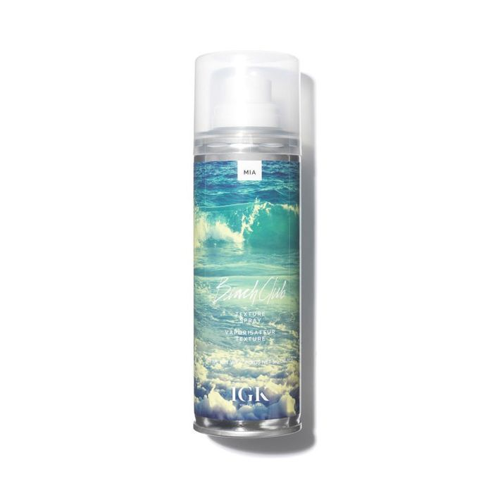 best texturising spray: IGK Beach Club Volumizing Texture Spray