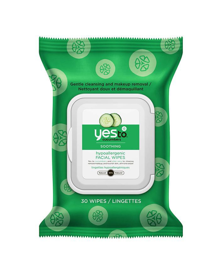 2148a90637f Yes To Cucumber Soothing Hypoallergenic Facial Wipes