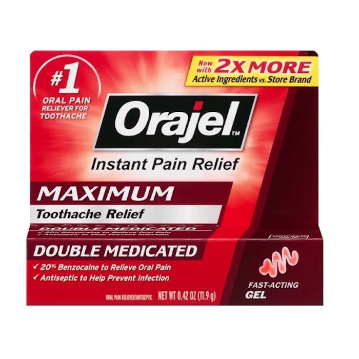Orajel Maximum Double Relief Toothache Gel
