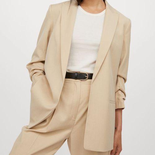 H&M Gathered-Sleeve Jacket