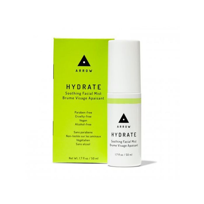 Katia Beauchamp travel beauty essentials: Arrow Hydrate Soothing Facial Mist
