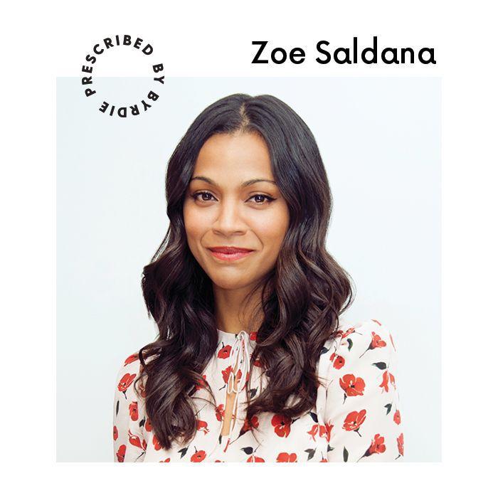 Zoe Saldana Red Lipstick