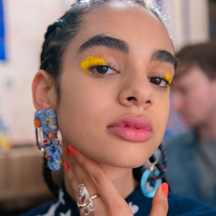 Makeup Trends 2020.It S Official Painted Eyes Are The 1 Makeup Trend At Nyfw