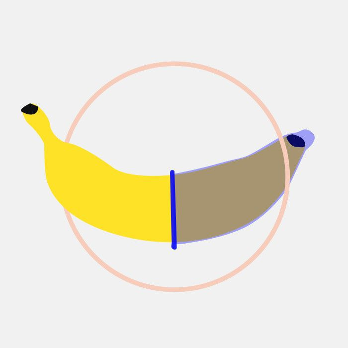 Illustration of a condom-wrapped banana