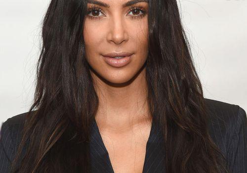 Kim Kardashian long, textured hair
