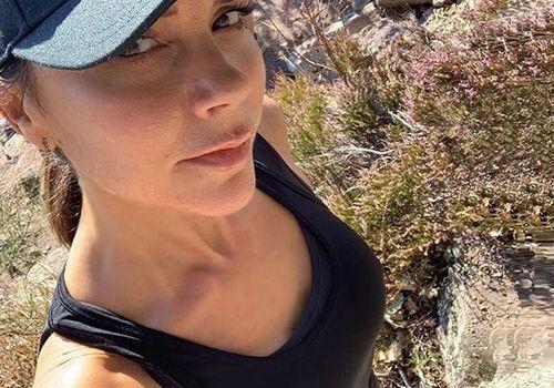 Victoria Beckham on a hike