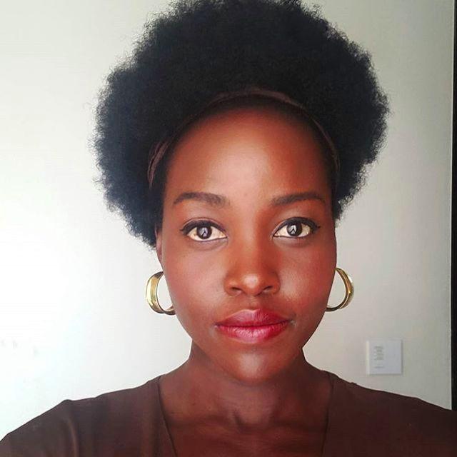 Lupine Nyong'o tiny afro