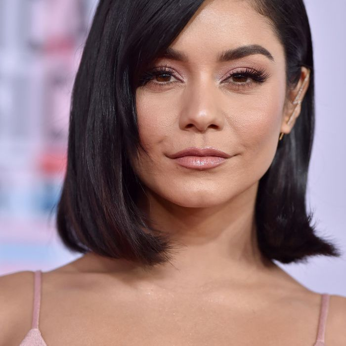 Vanessa Hudgets with side-swept bangs