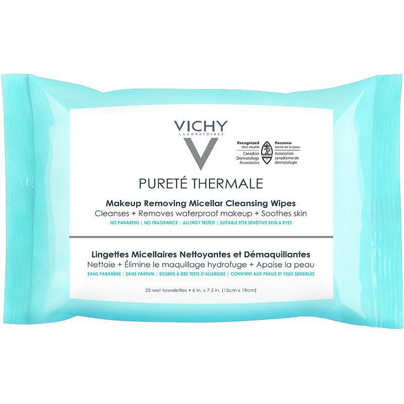 Vichy Pureté Thermale Makeup Remover Wipes with Micellar Water