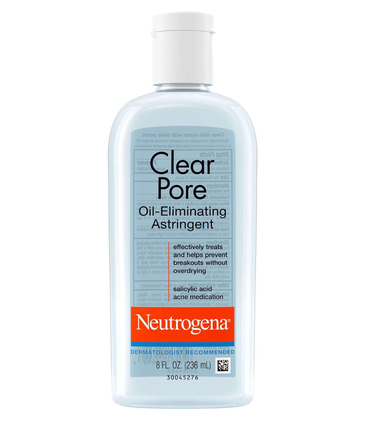 neutrogena clear pore oil eliminating astringent