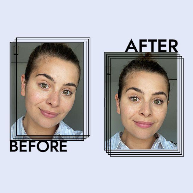 e.l.f. Camo CC Cream Results on Emily Algar