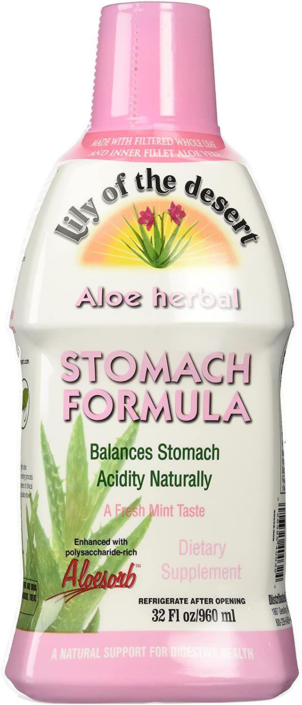 Lily Of The Desert Aloe Herbal Stomach Formula Fresh Mint